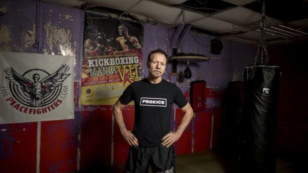 Irish kickboxing legend Billy Murray, now trainer of multiple world champions, at his gym Prokick in Belfast. Photograph: Liam McBurney