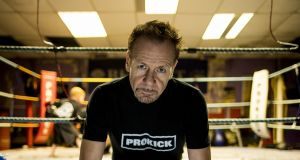 Irish kickboxing legend Billy Murray, now trainer of  world champions, at his Prokick Gym in Belfast. Photograph:  Liam McBurney for The Irish Times