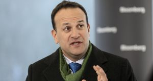 "Taoiseach Leo Varadkar said a no deal Brexit ""will cause the economy to slow down very sharply but not to the extent that we go back into recession"". File photograph: Simon Dawson/Bloomberg"