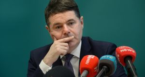 For the moment, Minister for Finance Paschal Donohoe will not change his spending and tax plans – for this year anyway. File photograph: Dara Mac Dónaill/The Irish Times