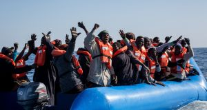 The number of refugees and migrants arriving in Europe from the Mediterranean was the lowest in five years in 2018. Photograph:  Federico Scoppa/AFP/Getty Images