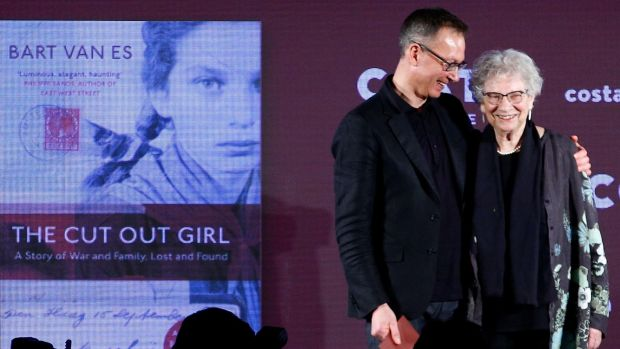 Costa Book of the Year Award winning author Bart van Es with Lien de Jong, the subject of his book, The Cut Out Girl. Photograph: Henry Nicholls/Reuters