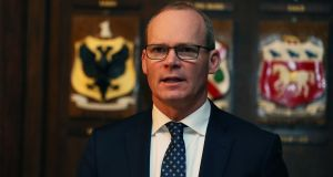 Tanaiste Simon Coveney: the Irish position is not going to change. Photograph:  Brian Lawless/PA Wire