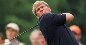 John Daly tees off in the 2001 BMW International Open. Photograph: Inpho