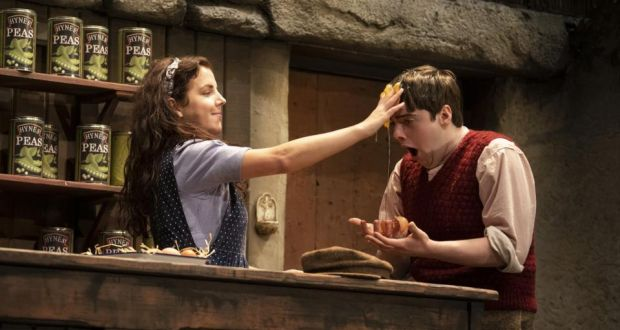 The Cripple of Inishmaan: Jamie Lee O'Donnell as Slippy Helen and Ian O'Reilly as Bartley. Photograph: Pat Redmond