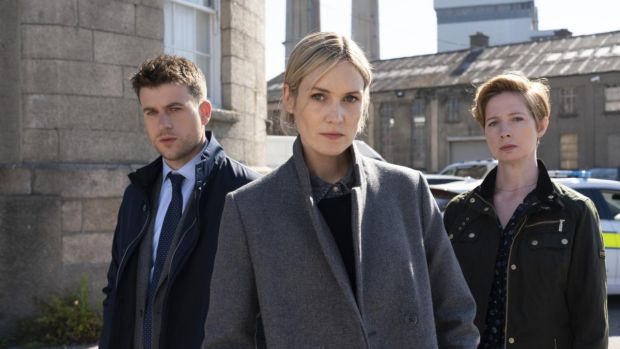 Sean Fox, Lynn Rafferty and Orla Fitzgerald in RTÉ's hit crime series Taken Down, which was co-written by Jo Spain and Stuart Carolan