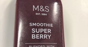Very moreish: Marks and Spencer Super Berry smoothie