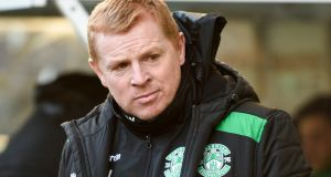 Head coach Neil Lennon has left Hibernian by mutual consent, the  club have announced. Photograph: Ian Rutherford/PA Wire