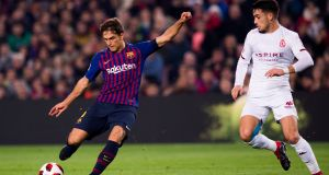 Denis Suárez will move to Arsenal on loan from Barcelona for the remainder of the season. Photograph: Alex Caparros/Getty Images