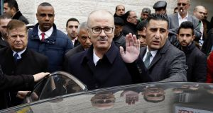 The government of Palestinian prime minister Rami Hamdallah  has submitted its resignation to President Mahmoud Abbas. Photograph: EPA/Abed  Al Hashlamoun