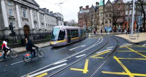 Concerns were raised over how the College Green plaza plans would affect bus links and traffic flow in the city Photograph: Cyril Byrne/The Irish Times