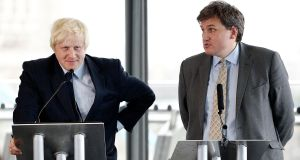 Kit Malthouse, right – who gives his name to the Tories' Malthouse compromise – and Boris Johnson in 2011. Photograph: Matthew Lloyd/Getty Images