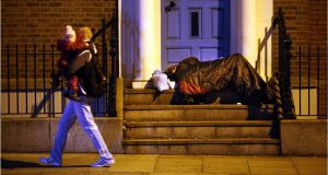 Figures released on Wednesday show there was a 2 per cent drop in the numbers of homeless people in December. File image: Dara Mac Donaill