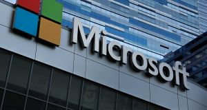 Microsoft shares slipped about 2.5 per cent in extended trading after the report. Photograph: Mike Blake/Reuters