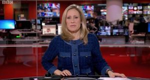 Sophie Raworth kept her cool during the BBC News Broadcast