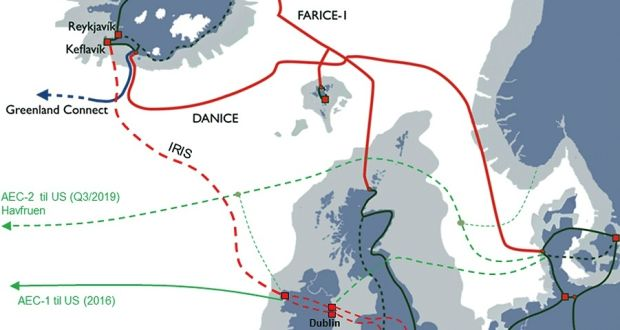 Mainland Europe Map.Republic Could Get Direct Link To New Undersea Fibre Optic Cable