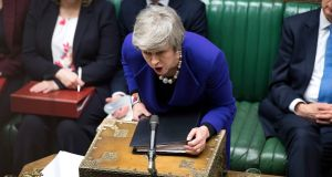 Therese May: Some senior cabinet members  conclude she would rather let Britain fall out in a disorderly Brexit than have history say she split the Tories. Jessica Taylor/PA Wire
