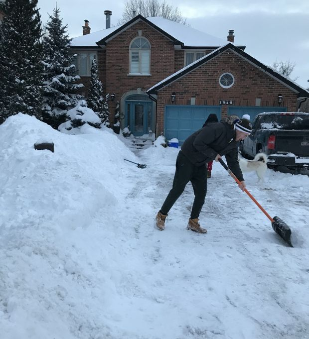Jim and Marie Flood, Toronto: 'My children had to shovel their way out of garden.'