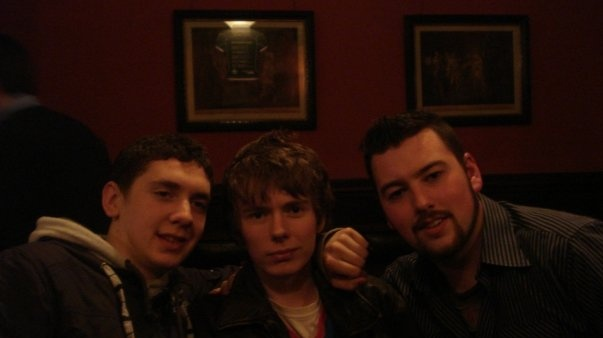 Conor Yorke (left), James Patterson and Ross McQuade in Mulligan's