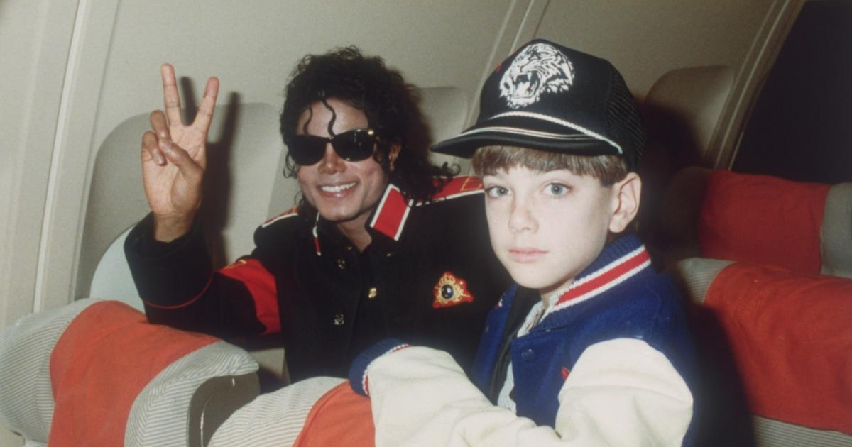Michael Jackson with 10-year-old Jimmy Safechuck in 1988. Photograph: Dave Hogan/Getty