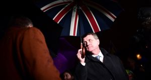 Ukip leader Gerard Batten: his Border knowledge needs a little brushing up. Photograph: Leon Neal/Getty Images