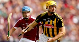 Kilkenny's Colin Fennelly in action against Johnny Coen of Galway during  the 2018 hurling senior championship final replay, at  Semple Stadium. Photograph: James Crombie/Inpho