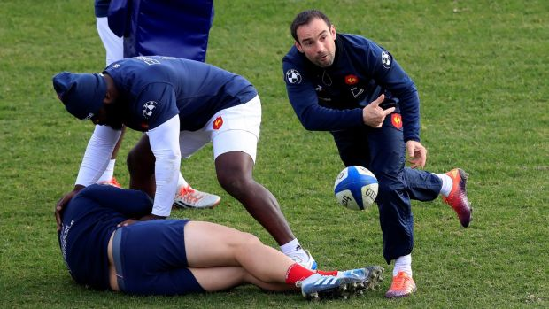 France's Morgan Parra during the captain's run yesterday. Photograph: Reuters