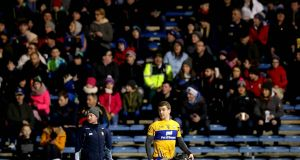 Tony Kelly leaves the pitch after being sent off in the Allianz Hurling League Division 1A game against Tipperary at  Semple Stadium. Photograph: Ryan Byrne/Inpho