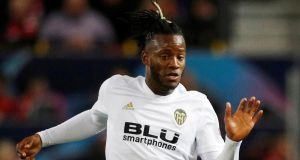 Michy Batshuayi will join Crystal Palace on a loan deal. Photograph: Reuters