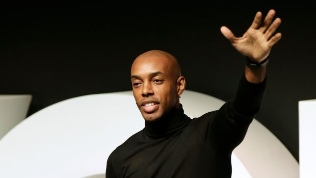 Casey Gerald speaks on stage during #BoFVOICES in Oxfordshire, the UK. Photograph: John Phillips/ Getty Images