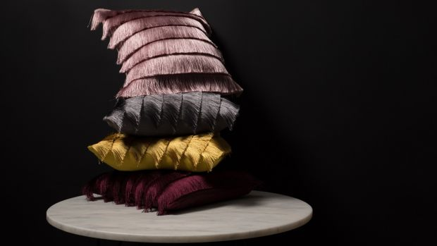 Fringed cushions, the Gatsby, €30 each at Harvey Norman.