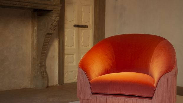 The Fringes Armchair by Portuguese design house Munna comes in a range of colours.