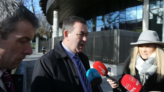 Detective Superintendent Tony Howard speaking to media outside Dublin Circuit Criminal Court where Paschal Kelly of Cootehill in Cavan was convicted and has been jailed for 18 years following a tiger kidnapping in North Dublin. Photograph: Collins Courts
