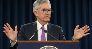Federal Reserve chairman Jerome Powell turned unexpectedly dovish after markets soared last week. Photograph: Reuters