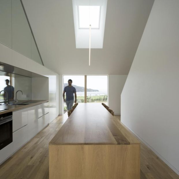 Minimalist: Darragh Breathnach in the home he designed for his parents, Jim and Eilish Walsh