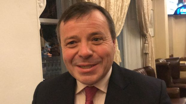 Political donor Arron Banks attending the DUP fundraising dinner in Ballymena, Co Antrim. Photograph: Rebecca Black/PA Wire
