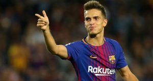 Denis Suarez could make his debut for Arsenal in Sunday's game away to Manchester City. Photograph: Albert Gea/Reuters