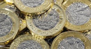 Against the euro, the UK pound weakened 0.4 per cent to 87.62p. Photograph: iStock