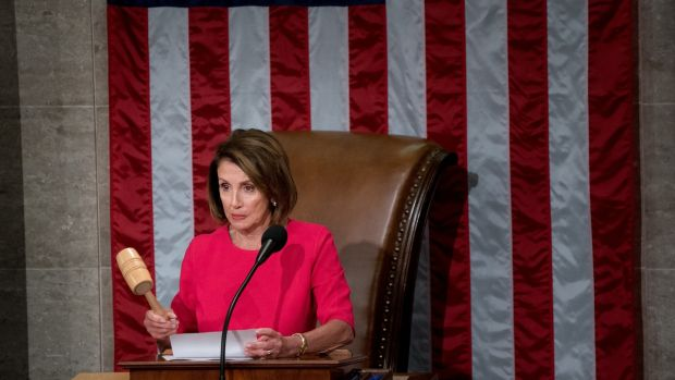 Democrat Nancy Pelosi is Speaker of the House of Representatives. Photograph: Erin Schaff/The New York Times