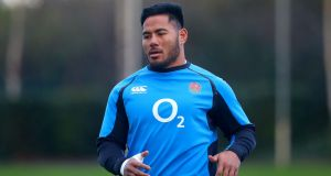 Manu Tuilagi will start a Test match for the first time since June 2014 against Ireland. Photograph:  Oisín Keniry/Inpho