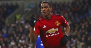 Anthony Martial. Photograph: Geoff Caddick/AFP/Getty Images