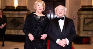 President Michael D Higgins with his wife Sabina Coyne at the Cork Chamber event on Friday. Photograph:  Darragh Kane