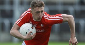 Ryan Burns scored 2-3 for Louth as they beat Laois in the Allianz Football League at Croke Park. Photograph: Lorraine O'Sullivan/Inpho