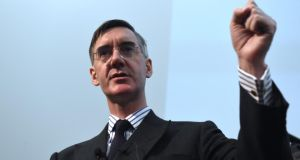 Jacob Rees-Mogg speaks in a meeting of The Bruges Group, a pro-Brexit think tank in London, Britain on January 23rd EPA/Facundo Arrizabalaga