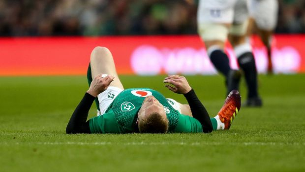 Keith Earls was substituted at half-time of Ireland's defeat. Photograph: james Crombie/Inpho