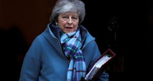 Britain's Prime Minister Theresa May is due to report back to parliament on her negotiations with the EU on February 13th. Photogarph: Reuters