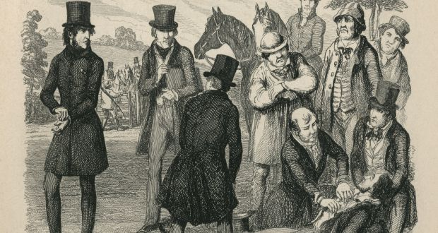 A small crowd arrived to the scene of the shooting and carried John Moylan to a nearby house. Illustration: iStock/George Cruikshank