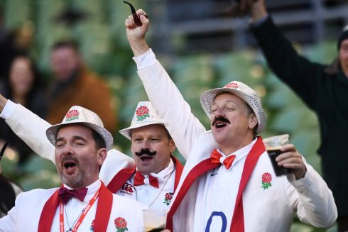 England fans inside the stadium before the match   REUTERS/Clodagh Kilcoyne