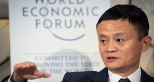 Jack Ma, founder  of Alibaba, at the   World Economic Forum in Davos, Switzerland, on January 23th, 2019.  Photograph: EPA/Gian Ehrenzeller