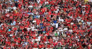 Cork supporters in big numbers at a Munster hurling final. Given the lack of success in recent times, instead of bulling on about 'Corkness' it might be time for a little humility instead.  Photograph: Cathal Noonan/Inpho